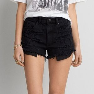 AE Vintage High-Rise Festival Black Shorts